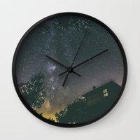 home alone Wall Clocks featuring Home alone by Gediminas Bartuska