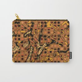 Abstract Pattern Mix 6C Carry-All Pouch