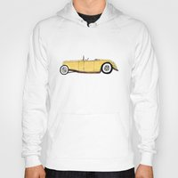gatsby Hoodies featuring Great Gatsby Yellow Roadster by JasonKoons