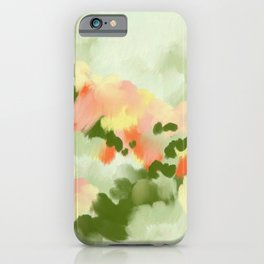 Abstract painting Summer Vibes iPhone Case