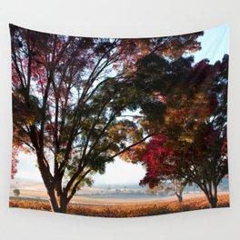 Australian Autumn Landscape Wall Tapestry
