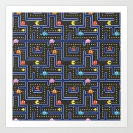pacman maze Art Print