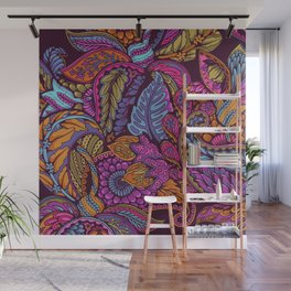 Paisley Dreams - sunset colors Wall Mural