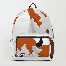 Cartoon cow Backpack