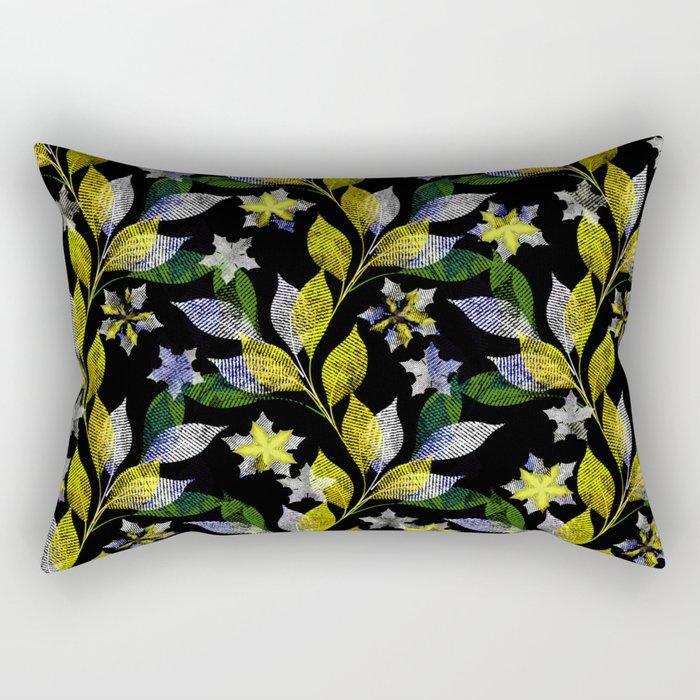 Floral pattern . Rectangular Pillow