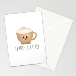 Thanks A Latte Stationery Cards