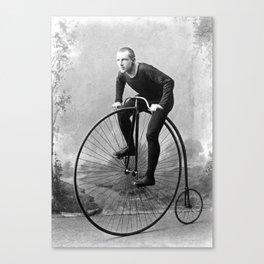 Velocipede racer Canvas Print