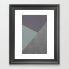 Concrete & Triangles Framed Art Print