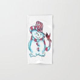 """Snowman Love"" Hand & Bath Towel"