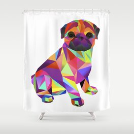 Pug Dog Molly Mops Shower Curtain