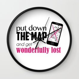 Get wonderfully lost! Wall Clock