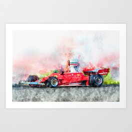 Niki Lauda No.12 Art Print