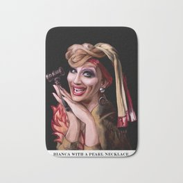 Bianca with a Pearl Necklace Bath Mat