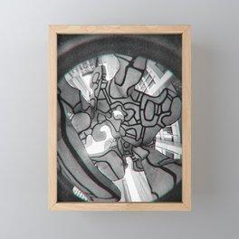 Group of four trees Framed Mini Art Print