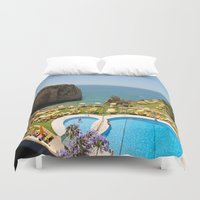 portugal Duvet Covers featuring Photography (Carvoeiro, Portugal) by A.Stormiscoming