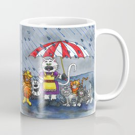Cats on a Rainy Day Coffee Mug