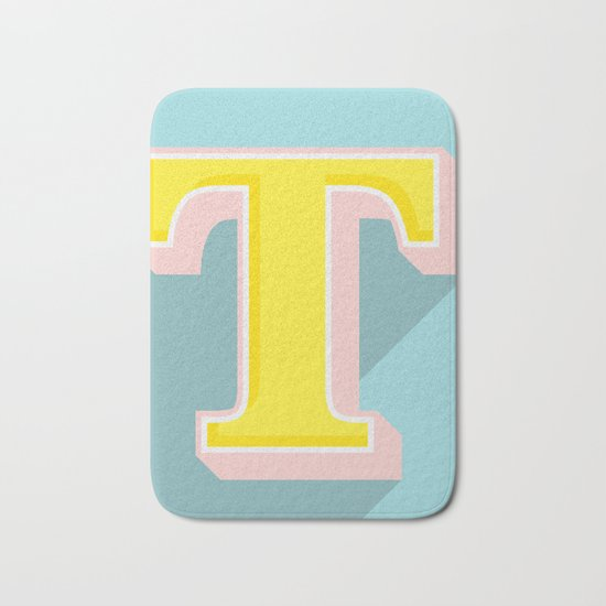 T is for .... Bath Mat