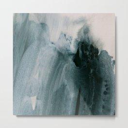 greyish brush strokes Metal Print