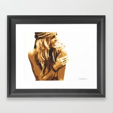 Sitting in the Grass, If it Feels Good Framed Art Print