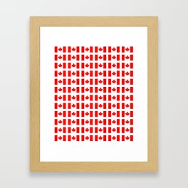 flag of canada 3-canadian,canadien,canadiense,ottawa,toronto,montreal. Framed Art Print
