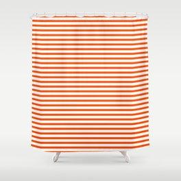 Orange Candy Stripes Shower Curtain
