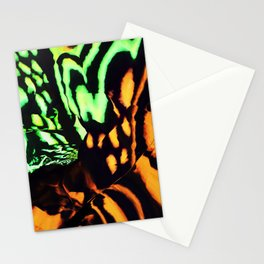 Neon animal skin Stationery Cards