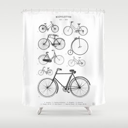 Collections - Bicyclettes Shower Curtain