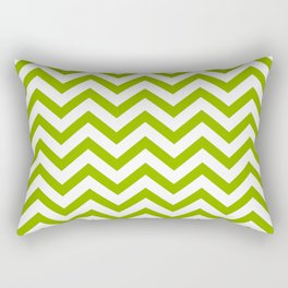 Simple Chevron Pattern - Apple Green & White - Mix & Match with Simplicity of Life Rectangular Pillow