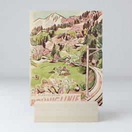 Advertisement brunig die elektrische bruniglinie luzern interlaken cff sbb Mini Art Print