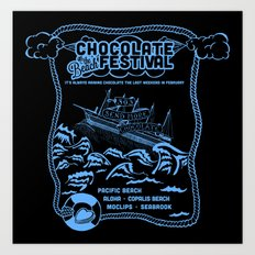 Send More Chocolate Art Print