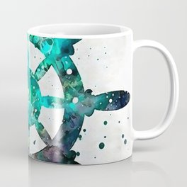 The Captains Wheel Coffee Mug