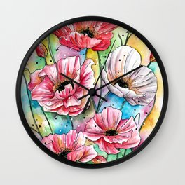 Iceland Poppies Wall Clock