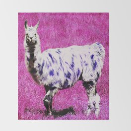 no drama llama Throw Blanket