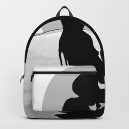 Lovers Black and White Backpack