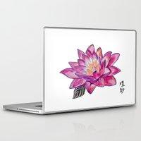 lotus flower Laptop & iPad Skins featuring Lotus by Art by Risa Oram