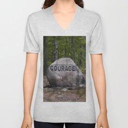 Courage Rock Babson Boulder #6 Unisex V-Neck