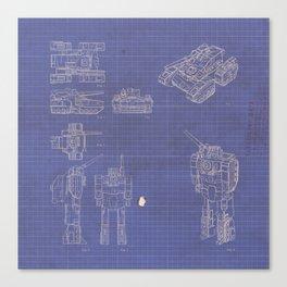 Transformer Blueprints Canvas Print