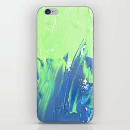 Blue & Green, No. 2 iPhone Skin