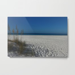 A Peaceful Day At A Marvelous Gulf Shore Beach Metal Print