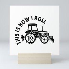 Tractor Farmer Agriculturer Farm Farming Gift Idea Mini Art Print
