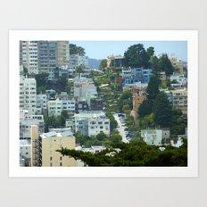Lombard Street, San Francisco Art Print
