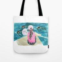 mermaids Tote Bags featuring Mermaids by Condor