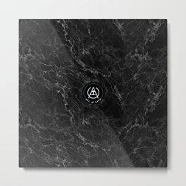 Black Lightning Metal Print
