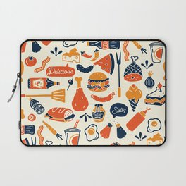 Cool, Fun & Colorful Retro Diner Pattern Laptop Sleeve