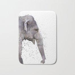 Elephant Portrait Bath Mat