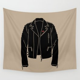 Leather Jacket - HANDSOME DEVIL'S CLUB (3/3) Wall Tapestry