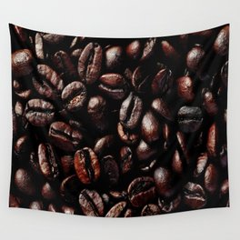 Dark Roasted Coffee Beans Wall Tapestry