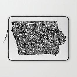 Typographic Iowa Laptop Sleeve