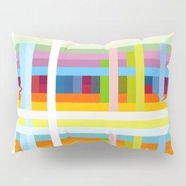 Colorful Retro Lifestyle Grid Musimon Pillow Sham