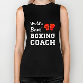 World's Best! Boxing Coach Appreciation T-Shirt Biker Tank